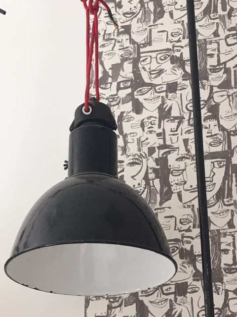 Emaillelampe